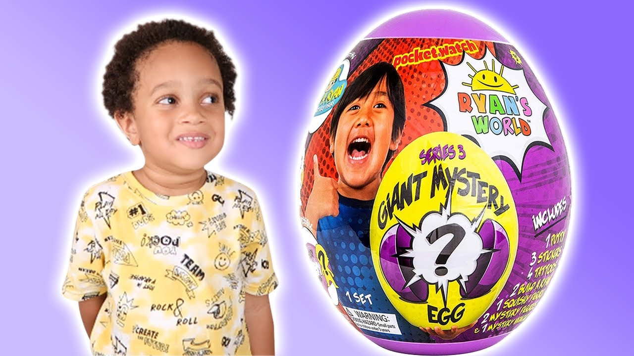 RYAN'S WORLD Giant Mystery Purple Egg Series 3 NEW