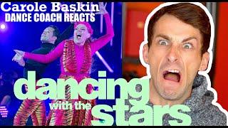 Dance Coach Reacts t๐ CAROLE BASKIN on DWTS!