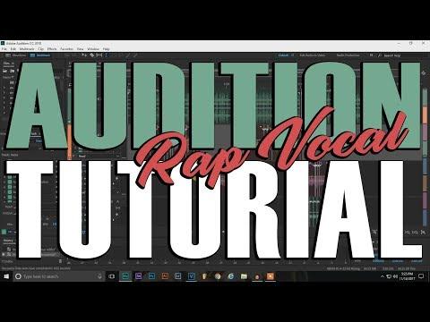 Adobe Audition 2k18 Rap Vocal Mixing Tutorial  How I mixed Seasons