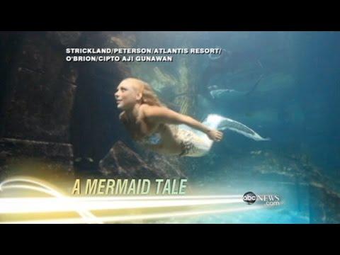 Nightline Interview with Hannah Mermaid at Long Beach Aquarium