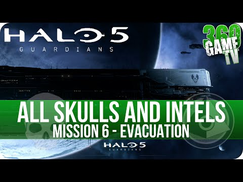 Halo 5 Guardians All Skull and Intel Locations Mission 6 Evacuation - All Collectibles Guide Part 6