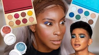 Bretman You Ain't SLICK! Trying the Bretman Colourpop Collection! | Jackie Aina