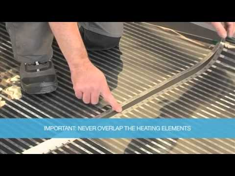 Underfloor Heating Kit Laminate Floor Installation Youtube