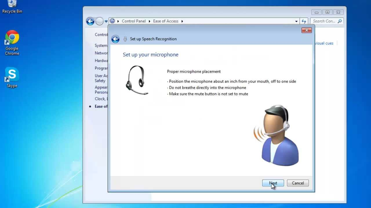 How To Use Speech Recognition In Windows 7 Youtube