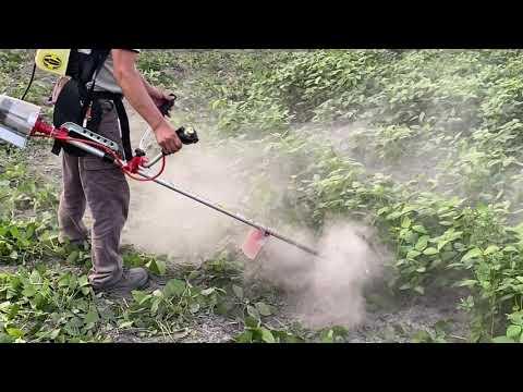 GF1500草戰士充電式割草機貼地飛行(割田菁)