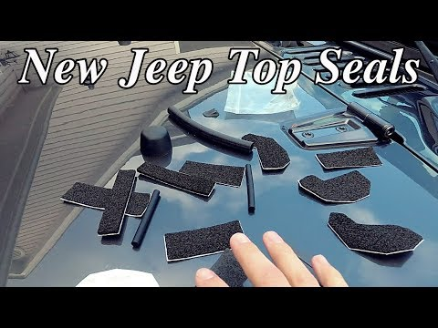 HOW to repair a Leaky Jeep Wrangler Top (Jeep JK)