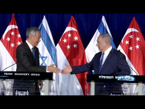 PM Netanyahu Meets Singapore PM Lee Hsien Loong