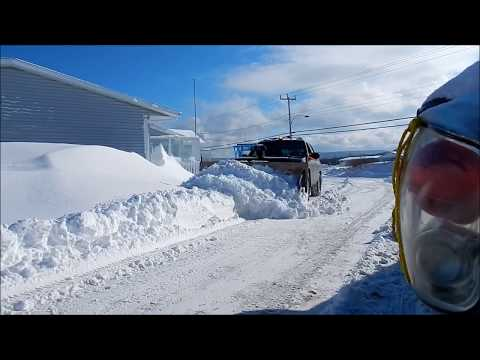 Unbelievable Wood Snowplow Moves Tons of Snow (82 Year old builder/operator)