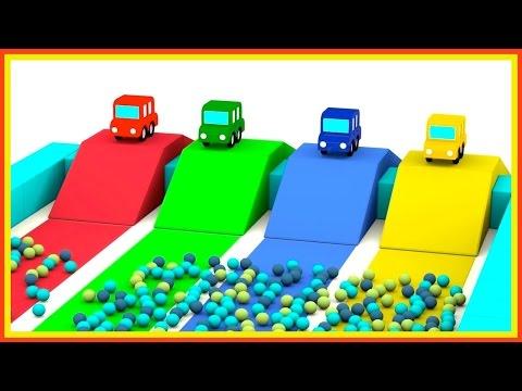 JUMPING CARS Ball Pool! - Cartoon Cars Videos for Kids. Cartoons for Children - Kids Cars Cartoons