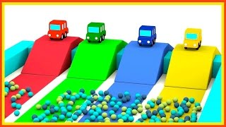 JUMPING CARS Ball Pool! - Cartoon Cars Videos for Kids. Cartoons for Children - Kids Cars Cartoons