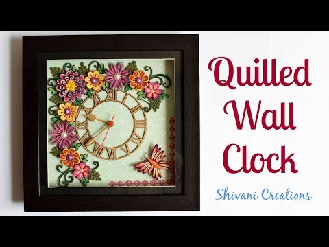 Quilling Wall Clock/ Quilled Wall Hanging Watch