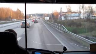 Driving in Finland: Lohja - Helsinki by Bus