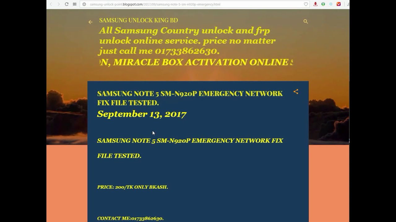 SAMSUNG NOTE 5 SM N920P EMERGENCY NETWORK FIX FILE TESTED by Android Smart  Phone Solution phone tricks