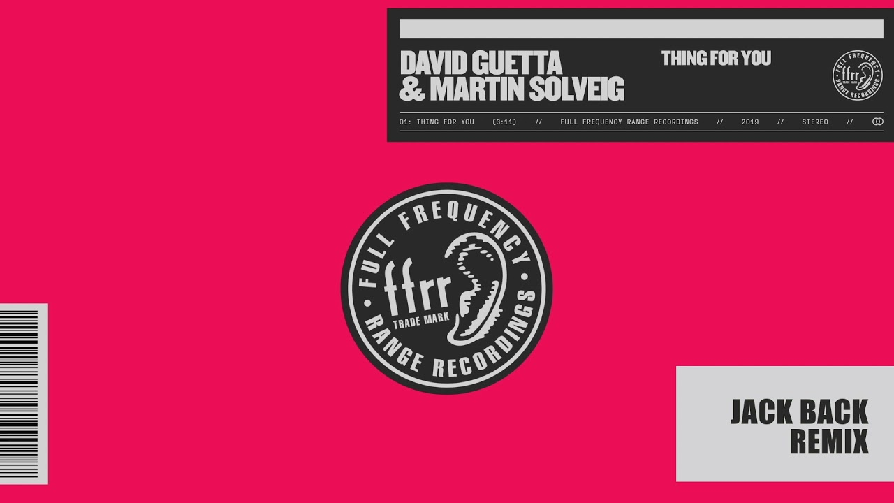 David Guetta & Martin Solveig — Thing For You (Jack Back Remix)