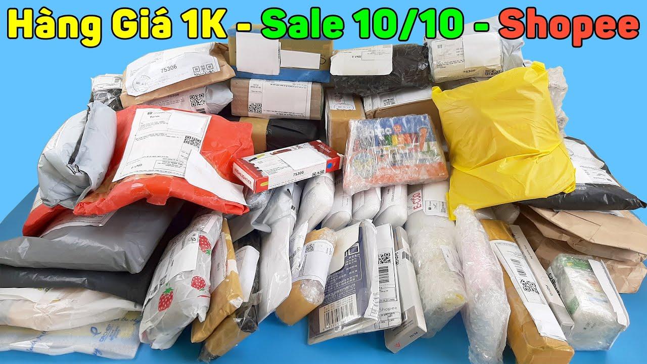 Mở Hộp Đống Hàng Giá 1K Freeship Mua Trên Shopee Trong Dịp Sale 10 Tháng 10