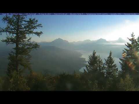 Glacier National Park, Apgar Mountain Lookout, August 2017 Time Lapse