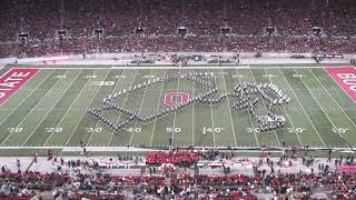 Amazing Marching Band! Halftime vs. Michigan State. One Giant Leap.