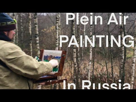 Plein Air Painting in Russia. Demo in English. Artist: Michael Anfinogenov.