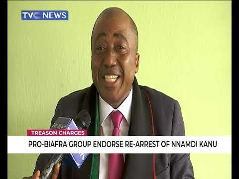 Image result for Pro-Biafra group endorses rearrest of Nnamdi Kanu
