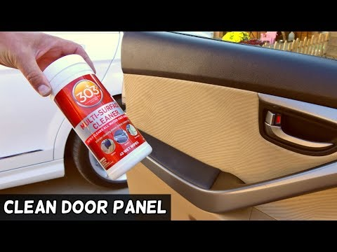 HOW TO CLEAN FABRIC DOOR PANEL ON CAR