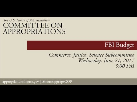 Hearing: Federal Bureau of Investigation Budget (EventID=106092)