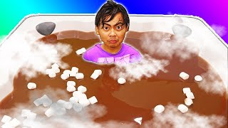 Hot Chocolate Hot Tub Bath Challenge!