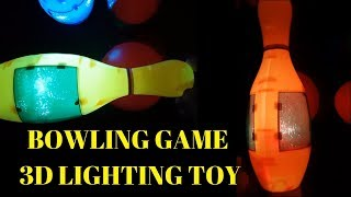 Bowling Game 3D Lighting Toy . Amazing Toys for kids. Playdoh. 3D Lighting. Nursery Ryhmes