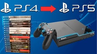 Поддержка игр PS4 на PS5