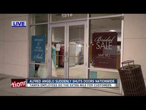 Alfred Angelo Bridal suddenly closing stores nationwide