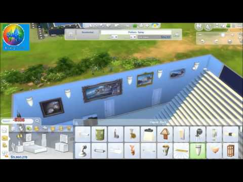 The Sims4 room build Cape Town's modern Mansion entrance DS & US