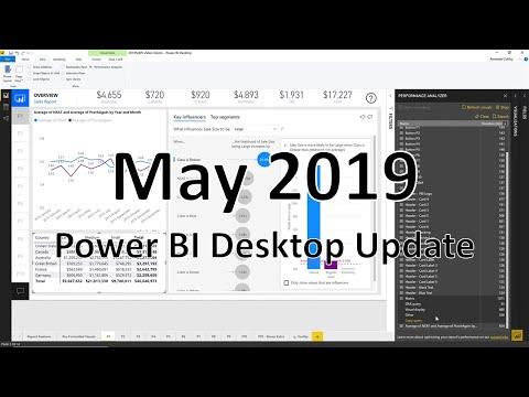 Power BI Desktop Update - May 2019