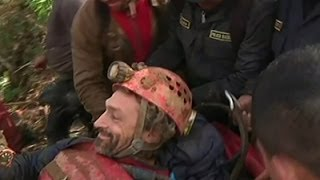 Raw: Trapped Scientist Rescued From Cave in Peru