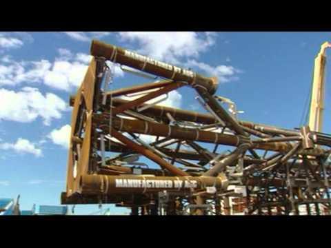 SAL Offshore: MV Annegret, Pohukura Project - Transferring Steel Jacket and Wellhead Platform