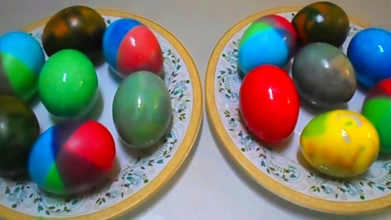 Красим яйца | 5 способов красиво покрасить яйца на Пасху ...