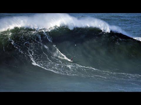 Has Sebastian Steudtner ridden a 95-foot wave at Nazaré?