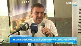 Brian Fernández, sin entrenar por un problema personal