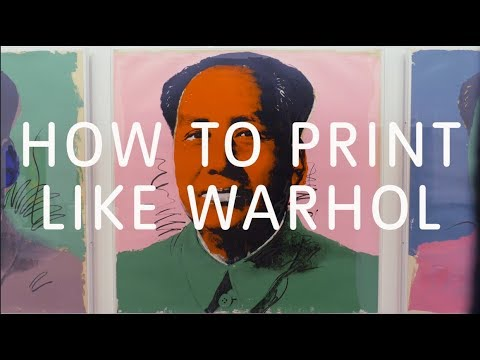 How to Print Like Warhol