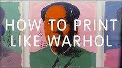 How to Print Like Warhol   Tate