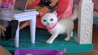 Видео с куклами, дом Барби, серия 492, новый домашний питомец Барби, кошка Блисса