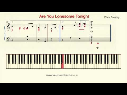 """How To Play Piano: Elvis Presley """"Are You Lonesome Tonight"""" Piano Tutorial by Ramin Yousefi"""