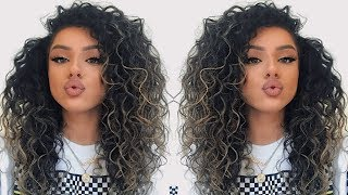 BIG CURLY HAIR TUTORIAL - (how to make your hair look curlier NATURALLY) 2019