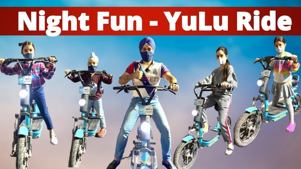 Download Night Fun - YuLu Ride @RS 1313 SHORTS   RS 1313 VLOGS   Ramneek Singh 1313