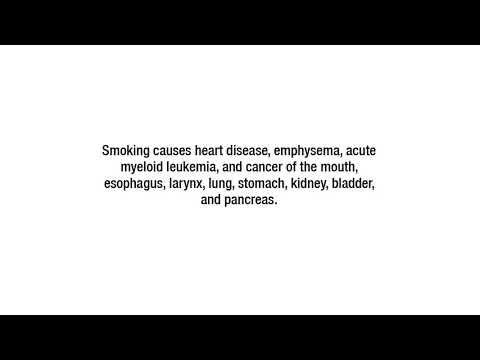 Health effects of smoking Big Tobacco ad