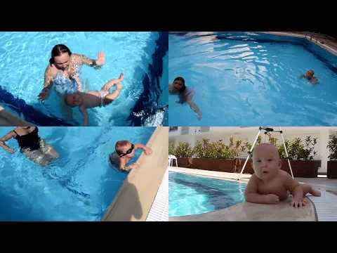 Baby Swimming In Pool Bebe Nadando Bebek Y Z Yor Youtube