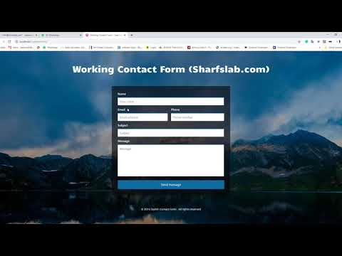 How To Make Working HTML PHP Contact Form