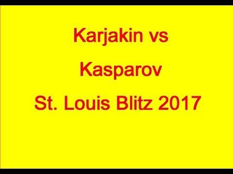 Sergey Karjakin vs Garry Kasparov: St. Louis Blitz 2017