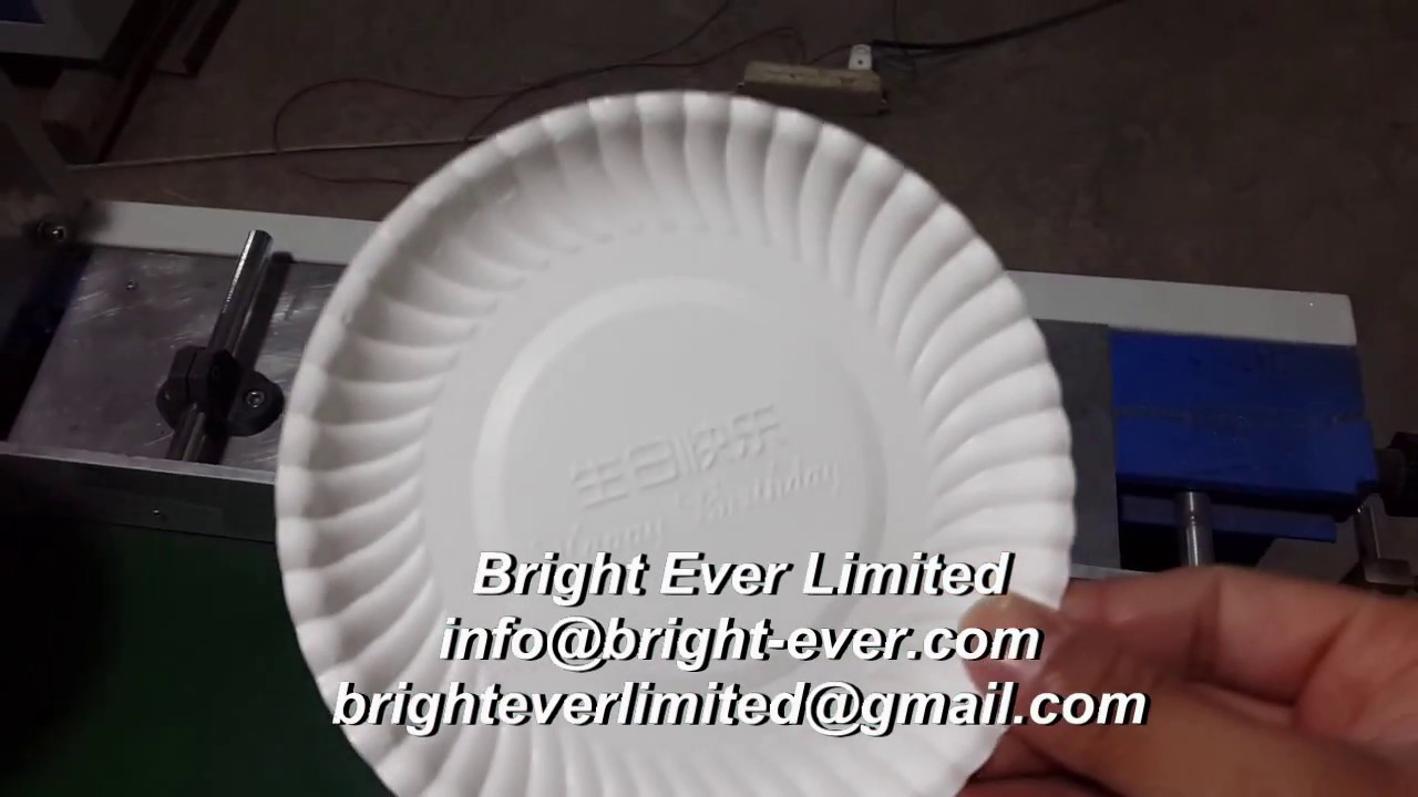 high speed paper plate machine from china & high speed paper plate machine from china - YouTube