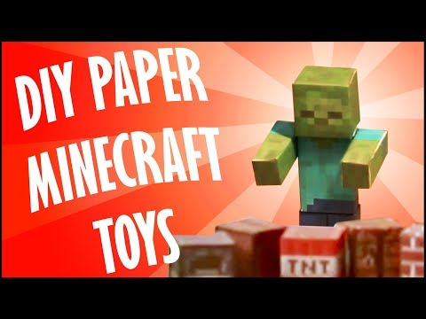 DIY SOLID PAPER MINECRAFT TOYS