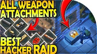 ALL WEAPON ATTACHMENTS + STATS - BEST HACKER RAID YET! - Last Day On Earth Survival Update 1.9