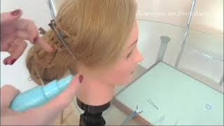 Причёска с плетением двойная нить. Видео-урок.